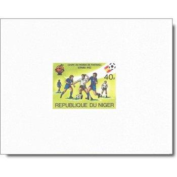 """Fußballweltmeisterschaft 1982 """"Kartonpapier"""" - 5 Luxusblocks postfrisch, Katalog-Nr. 767-7"""