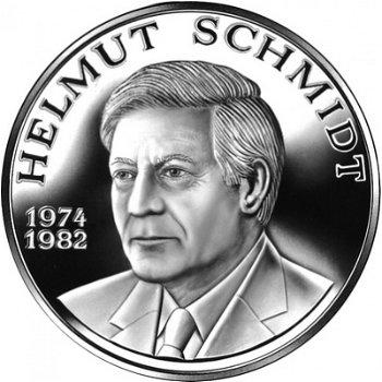 Zum Gedenken an Helmut Schmidt, Silbermedaille