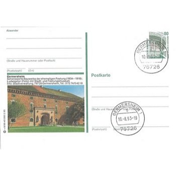 6728 Germersheim - picture postcard & quot; Buildings worth seeing & quot;