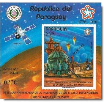 """Eroberung des Mars, mit Aufdruck """"MUESTRA"""" - Briefmarken-Block postfrisch, Katalog-Nr. 290"""