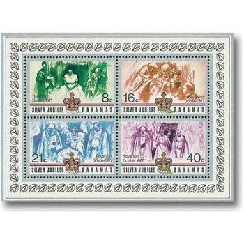 Königlicher Besuch - Briefmarken-Block 21, Katalog-Nr. 420-423 postfrisch, Bahamas
