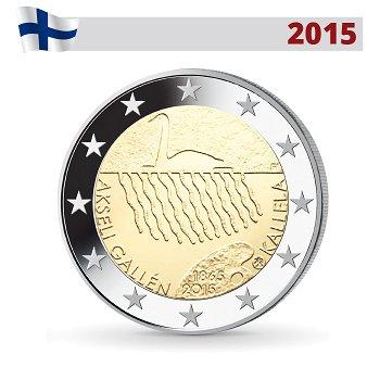 150. Geburtstag Akseli Gallen-Kallela, 2 Euro Münze 2015, Finnland