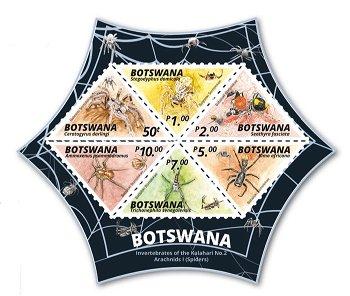 Spinnennetz - Block postfrisch, Botswana