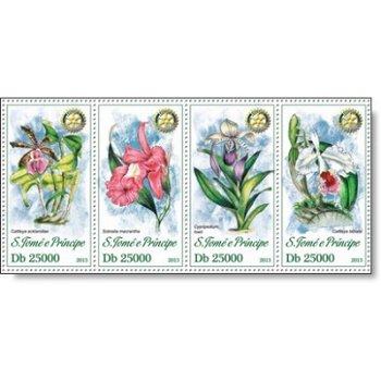 Orchideen - 4 Briefmarken postfrisch, Katalog-Nr. 5176 - 5179, St. Thomas
