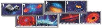 Visionen des Universums - 8 Briefmarken postfrisch, Großbritannien