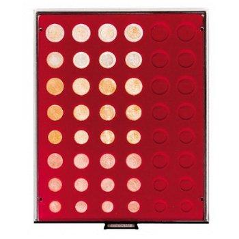 LINDNER Münzenbox, für Kursmünzensätze, LI 2906, Rauchglas