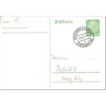4962 Bückeberg b. Hamelin - postal stationery & quot; Thanksgiving Day & quot;