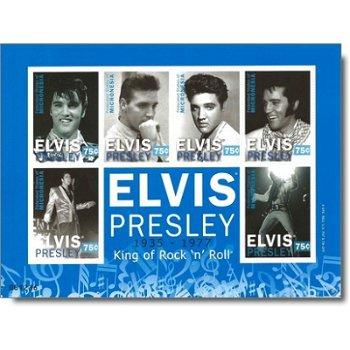 "Elvis Presley ""King of Rock 'n' Roll"" - Briefmarken-Block postfrisch, Micronesien"