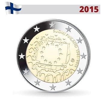 30 Jahre Europaflagge, 2 Euro Münze 2015, Finnland