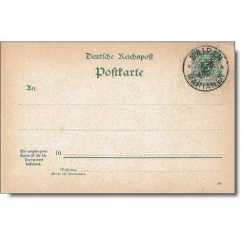 "Stempel ""Marianen"" - Postkarte P 3 F, Marianen"