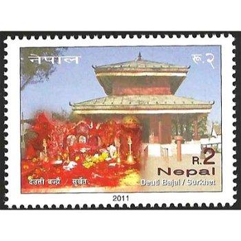 Deuti Bajai Tempel – Briefmarke postfrisch, Nepal