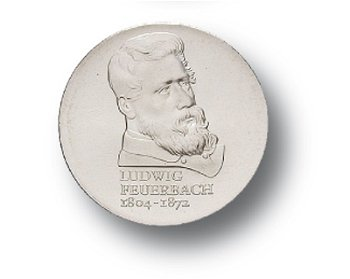 10-Mark-Münze 1979, 175. Geburtstag Ludwig Feuerbach, DDR