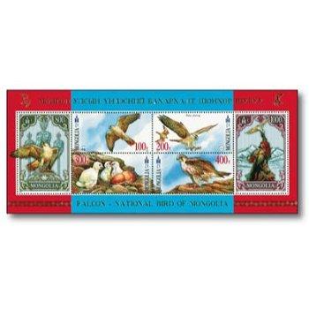 Greifvögel: Falke - Briefmarken-Block postfrisch, Mongolei
