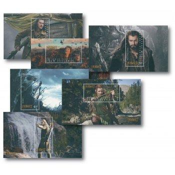 Der Hobbit, Teil 2, Smaugs Einöde - 6 Luxusblocks postfrisch, Neuseeland