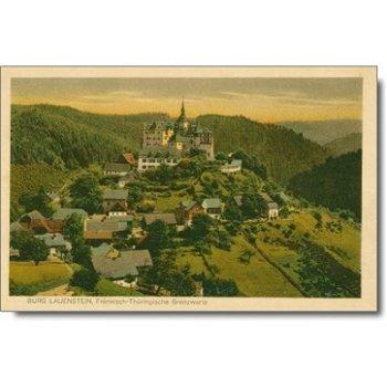 """8642 Lauenstein - Postkarte """"Burg"""""""