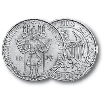 3 Reichsmark,1.000 Jahre Burg und Stadt Meißen, Jaeger-Nr. 338, Weimarer Republik