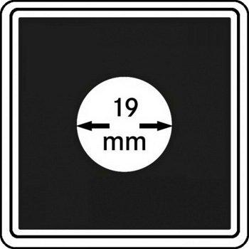 Münzkapseln CARRÉE 19 mm, 4er Pack, LI 2240019