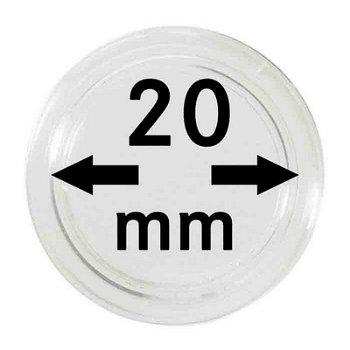 Münzkapseln,10er Pack für 10 €-Cent, Lindner 2250020P