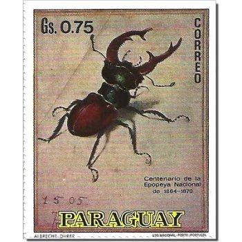 """Albrecht Dürer """"Der Hirschkäfer"""" - Briefmarke postfrisch, Paraguay"""