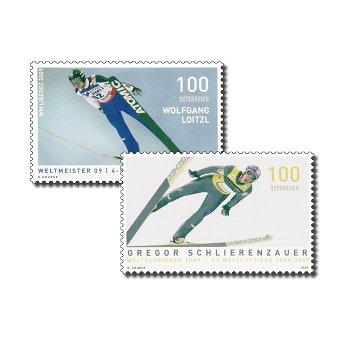 Wolfgang Loitzl und Gregor Schlierenzauer - 2 Briefmarken postfrisch, Österreich