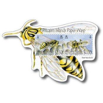 Wespen - Briefmarken-Block postfrisch, Pitcairn-Inseln