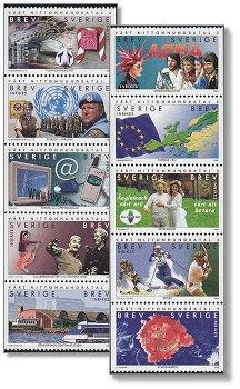 Das zwanzigste Jahrhundert III. - 10 Briefmarken postfrisch, Schweden, Michel-Nr. 2162 - 21711