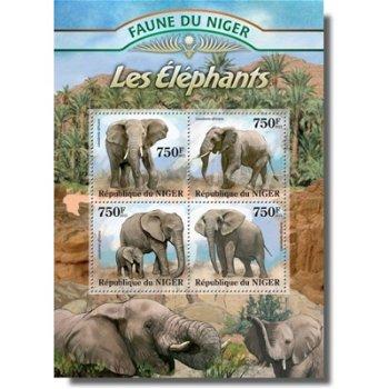 Elefanten - Briefmarken-Block postfrisch, Niger
