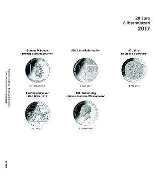 LINDNER Vordruckblatt 20 Euro Silbermünzen 2017, LI 1520-17
