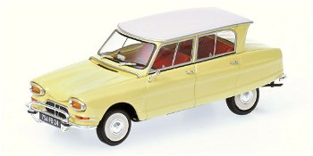 Modellauto:Citroen Ami 6 von 1964, gelb(Minichamps, 1:43)