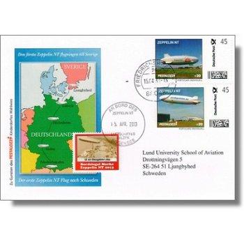 Zeppelin NT, 1. Flug nach Schweden - Beleg, Deutschland
