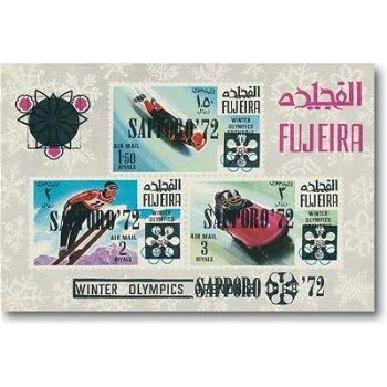 Olympische Winterspiele Sapporo 1972 - Briefmarken-Block 13, Katalog-Nr. 349-55 postfrisch, Fujeira