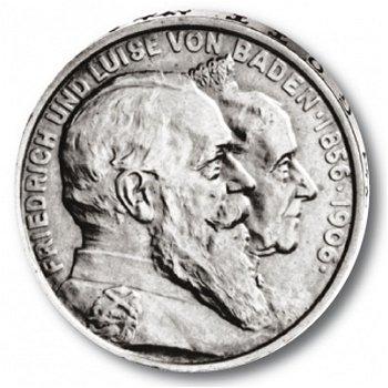 5 Mark Silbermünze, Goldene Hochzeit, Katalog-Nr. 35, Großherzogtum Baden