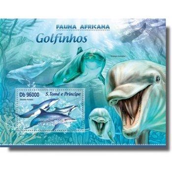 Delfine - Briefmarken-Block postfrisch, St. Thomas