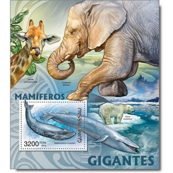 Große Säugetiere - Briefmarken-Block postfrisch, Katalog-Nr. 6071 Bl. 1076, Guinea-Bissau