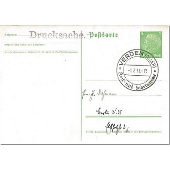 2810 Verden / Aller - postal stationery & quot; riding and driving tournament & quot;