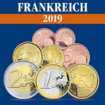 Frankreich - Kursmünzensatz 2019