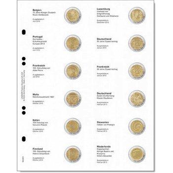 Lindner Vordruckblatt für 2 Euro-Gedenkmünzen: Belgien 2012 - Niederlande 2013, LI MU2E9