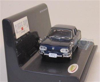 Modellauto:Hino Contessa 1300 von 1964-1966, dunkelblau(Vitesse, 1:43)