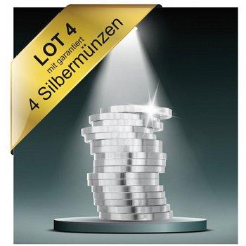 Lot 4 - Münz Inventurlot garantiert mit 4 Silbermünzen