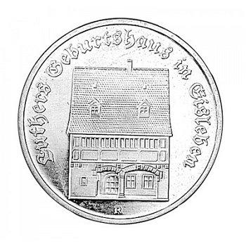 5-Mark-Münze 1983, Luthers Geburtshaus in Eisleben, DDR