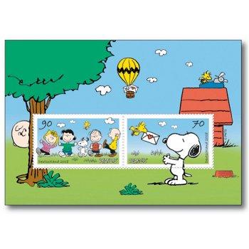 Post von den Peanuts: Snoopy - Briefmarkenblock postfrisch, Deutschland