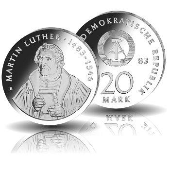 500. Geburtstag Martin Luther, 20 Mark Münze 1983, DDR
