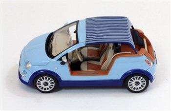 Modellauto:Fiat 500 Tender Two - Castagna Milano -von 2008, hellblau(Premium X, 1:43)