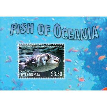 Fische des Ozeans II - Briefmarken-Block postfrisch, Micronesien