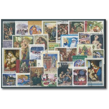 Christmas - 100 different postage stamps