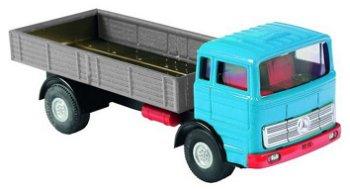 Blechmodell:Mercedes-Benz Pritsche, blau(Kovap, 1:43)