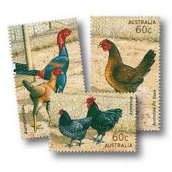 Australische Geflügelzucht - 3 Briefmarken postfrisch, Australien