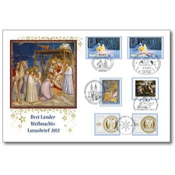 Drei-Länder-Weihnachts-Luxusbrief - Deutschland, Österreich und Liechtenstein