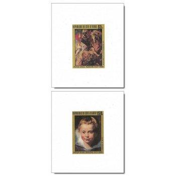 400. Geburtstag von Peter Paul Rubens - 4 Luxusblocks postfrisch, Katalog-Nr. 537B-540B, Elfenbeinkü