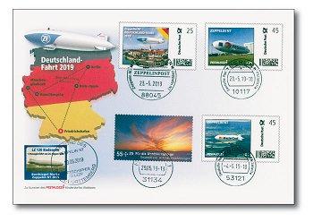 Die Deutschlandfahrt 2019 - Zeppelinpost, Deutschland